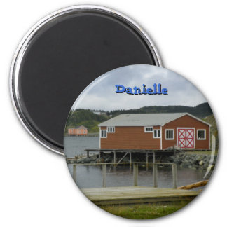 Fishing Stage in Twillingate 2 Inch Round Magnet