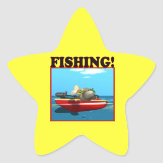 Fishing Star Sticker