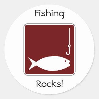 Fishing Round Stickers