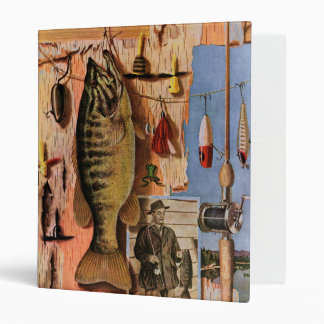 Fishing Still Life by John Atherton 3 Ring Binder