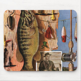 Fishing Still Life by John Atherton Mouse Pad