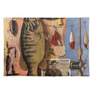 Fishing Still Life by John Atherton Placemat
