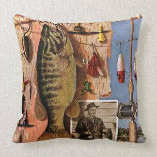Fishing Still Life by John Atherton Throw Pillow