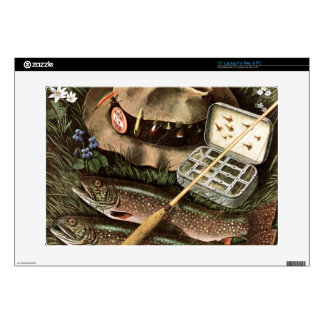 "Fishing Still Life Decal For 15"" Laptop"