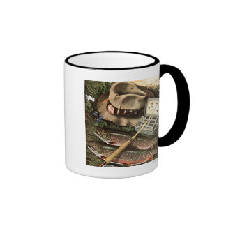Fishing Still Life Ringer Coffee Mug
