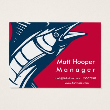 Professional Business Fishing Store Business card