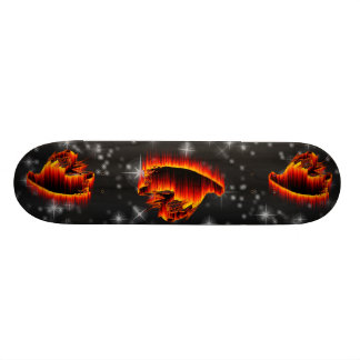 Fishing Streamer Fly Flame design Skateboard