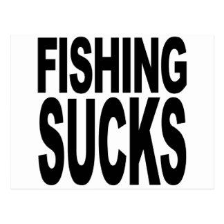 Fishing Sucks Postcard