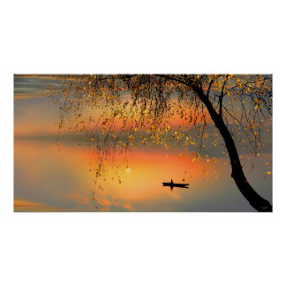 Fishing Sunset Posters
