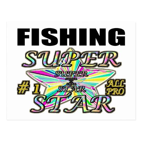 Fishing Superstar Postcard