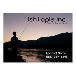 Fishing Supplies Bait and Tackle Biz Business Card Template