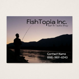 Fishing Supplies Bait and Tackle Biz Business Card