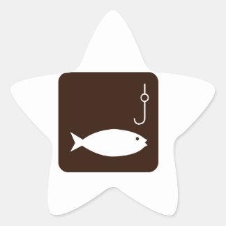 Fishing Symbol Star Sticker