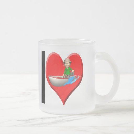 Fishing T-shirts and Gifts 10 Oz Frosted Glass Coffee Mug