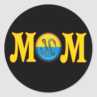 Fishing T-shirts and Gifts For Mom Classic Round Sticker