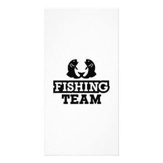Fishing team card