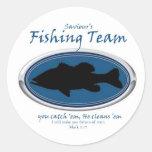 Fishing Team Classic Round Sticker