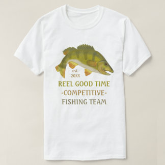 Fishing Team Tournament Custom Angler Bass Fish T-Shirt