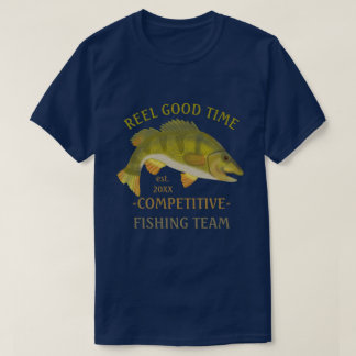 Fishing Team Tournament Custom Angler Bass Fish v2 T-Shirt