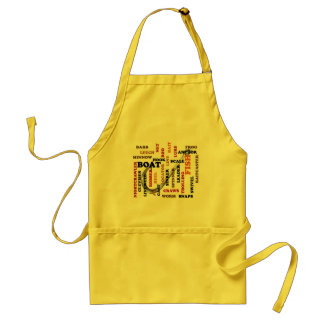 Fishing Terms Colored Ltrs hook background Adult Apron