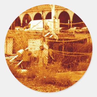 fishing & the beach (brighton 07) classic round sticker