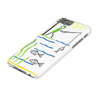 Fishing the big Fish Stickmans World is your World Barely There iPhone 6 Case