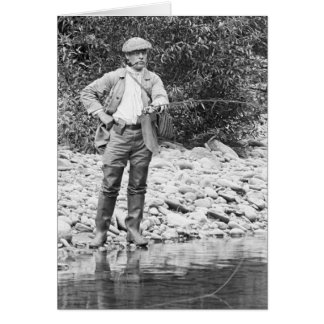 Fishing the Catskills, 1890s Greeting Card