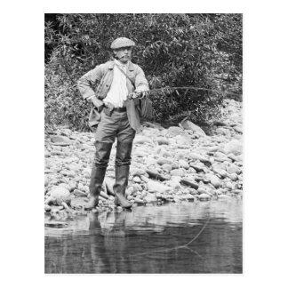 Fishing the Catskills, 1890s Postcard