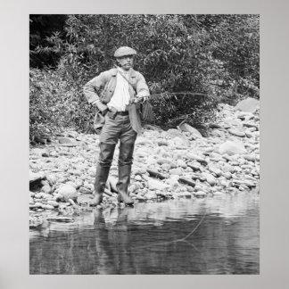 Fishing the Catskills, 1890s Poster