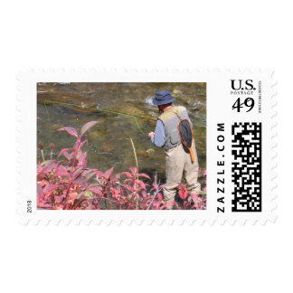 Fishing the Roaring Fork River_08 Postage Stamps