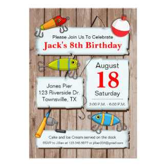 10 000 fishing invitations fishing announcements for Fishing birthday party invitations