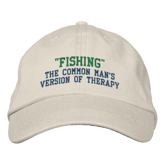 Fishing Therapy Embroidered Baseball Hat