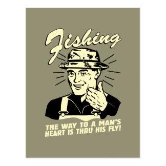 Fishing: Thru His Fly Postcard