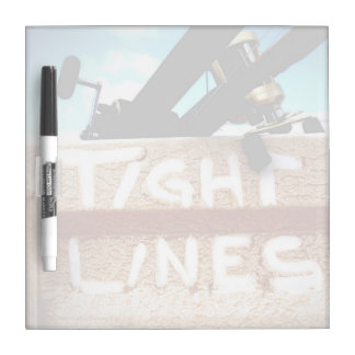 Fishing tight lines fishing rod fishing reel Dry-Erase board
