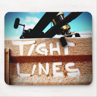 Fishing tight lines fishing rod fishing reel mouse pad