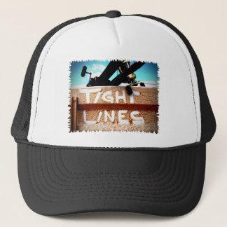 Fishing tight lines fishing rod fishing reel trucker hat
