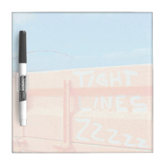 Fishing tight lines zz blue orange sky fishing rod Dry-Erase board