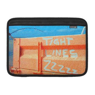Fishing tight lines zz blue orange sky fishing rod sleeve for MacBook air