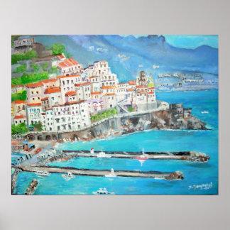 Fishing Town of Atrani - Poster