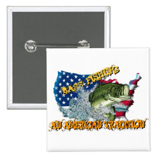 Fishing Tradition 2 Inch Square Button