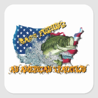Fishing Tradition Square Sticker