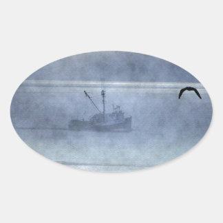 Fishing Trawler Nova Scotia Fishermen's Oval Sticker