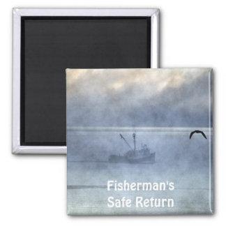 Fishing Trawler & Seagull Fishermans Gift Magnet