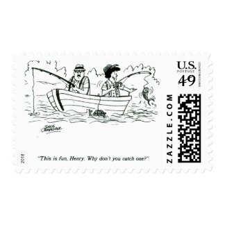 Fishing Trip Postage Stamps