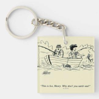 Fishing Trip Square Acrylic Key Chain