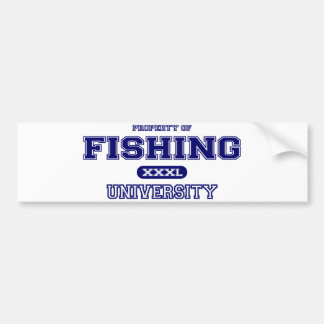 Fishing University Bumper Sticker