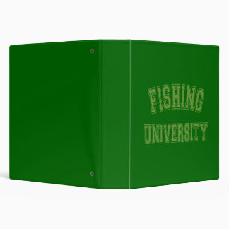 Fishing University Green Binder