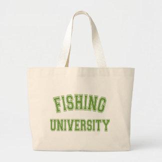 Fishing University Green Large Tote Bag
