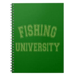 Fishing University Green Spiral Note Book