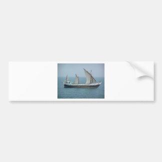 Fishing vessel in the Arabian sea Bumper Sticker